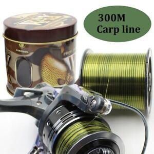 300m Carp Fishing Line Monofilament Mainline Invisible Sinking Nylon Line