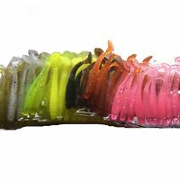 10pcs Fishing Worm 6 g 5cm Swim bait Jig Soft Curly Tail Lure Fly Fishing Bait