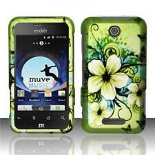 MetroPCS ZTE Score M X500M Rubberized HARD Case Phone Cover Hawaiian Flowers