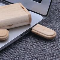 U Disk Storage Memory Stick Portable USB 3.0 8GB 16GB 32GB 64GB Wood Box SE