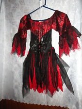 RED/BLACK FAIRY HALLOWEEN COSTUME-FITS AGES 6-10