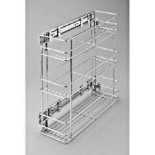 Küchenschrankauszug Seitenauszug Unterschrankauszug 3 Etagen  | Silber | Chrom