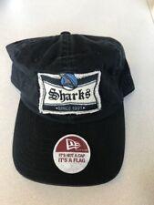 SAN JOSE SHARKS NEW ERA BLACK ADJUSTABLE ADJ. ONE SIZE CAP / HAT NEW