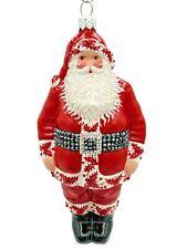 Patricia Breen Santa Claus Red Holly Trim Jewel Christmas Tree Holiday Ornament