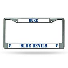 Caseys Distributing 9474609883 Duke Blue Devils Chrome License Plate Frame