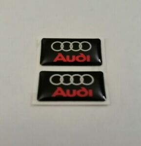 AUDI 3D DOMED BADGE LOGO EMBLEM STICKER GRAPHIC DECAL A3 A4 A5 S3 S4 RS3 RS4 Q5.