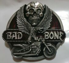 BAD TO THE BONE BIKER MOTORCYCLE BELT BUCKLE DESIGNS & QUALITY AMAZING STYLES US
