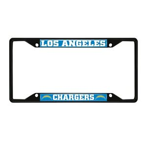 Fanmats NFL Los Angeles Chargers Black Metal License Plate Frame Del. 2-4 Days