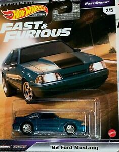 HOTWHEELS PRE ORDER  FAST & FURIOUS FAST STARS 92 FORD MUSTANG RUBBER TYRES