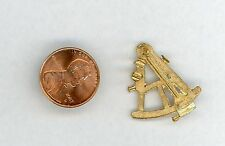 """Miniature Dollhouse Gold Painted Sextant Flat Black  406  1"""" High"""