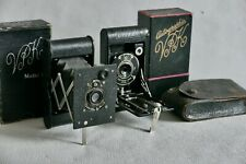 Two  vintage VEST POCKET KODAK Folding Cameras with Boxes.