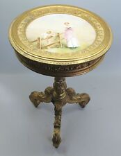 Continental Carved Gilt Wood Table w/ Royal Vienna Plaque  c. 1880