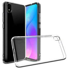 Cover Für Xiaomi Redmi 7A Dünne Transparent Weich IN TPU + Glas Gehärtetes Glas