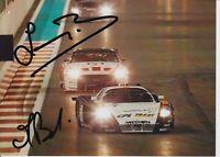 Francisco Longo and Matteo Bobbi Hand Signed 7x5 Photo - FIA GT Championship 2.