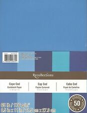 "New Recollections 8.5x11"" Cardstock Paper Cape Cod Shades of Blue 50 Sheets"