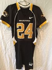 Game Worn Used Missouri Tigers Mizzou Football Jersey #24 Size 40