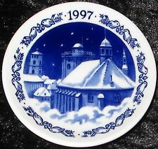 1997 ROYAL COPENHAGEN FAYENCE MINI WEIHNACHTSTELLER / CHRISTMAS PLAQUETTE
