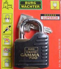 Burg Wächter Gamma 700 Zylinder Vorhangschloss Schloss 700 55 SB Messing Premium