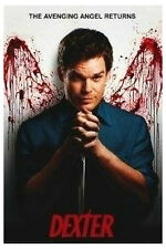 Dexter Avenging Angel Poster Blood Splattered Wings Miami Showtime New!