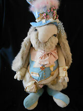"""Tilly Collectibles Rabbit MAYOR STUMPER 1988 44"""" tall w/Stand GREAT DISPLAY NWT"""