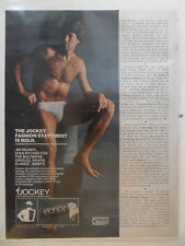 1981 Print Ad JOCKEY Men's Briefs Underwear Fashion ~ Jim Palmer Baseball Star