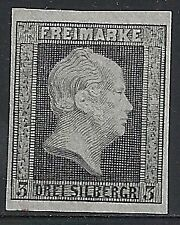 Preussen 1850 MI 4 PROOF on grey paper  UNG(as issued)  VF