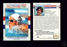 1991 OLYMPIC HOF TRACY CAULKINS SWIMMING CARD