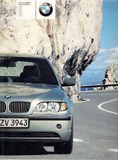 BMW 3-Series Saloon E46 2002 UK Market Sales Brochure 316 318 320 325 330