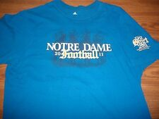 Notre Dame Football 2011 The Shirt Cheer Cheer Blue Adidas T-Shirt YthSm8-10