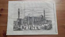 1873 Illustrazione Popolare: Vienna Esposizione Universale Costruzione Egiziana