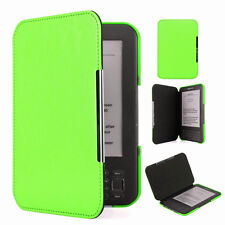 QW Green Slim Leather Protector Pouch Case Cover For Amazon Kindle Keyboard