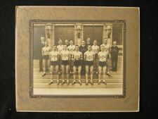 Antique 1935 Mt. Pleasant PA H.S. Ramsay Basketball Team Silver Gel Kough Photo