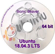 Linux Ubuntu Desktop 18.04.3 64 bit run Live/Install Bootable DVD Rom Linux O/S