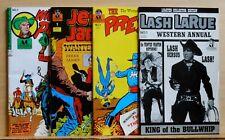Lot of 4 Western Hero comics - Jesse James, Lash LaRue, Wild Bill Pecos, 1989/90