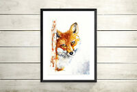 Fox,Original Watercolour Painting, Print, Art, Card, Gift, Wildlife,