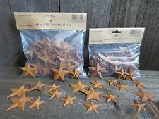 "200 pc Lot Rusty Barn Stars 100 ea 1.5"" & 2.25"" Primtive Country Tin Metal"