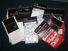 Damask Christmas Table Tablecloths