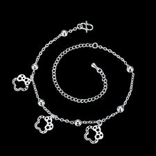 New Barefoot Sandal Beach Foot Chain Silver Plated Flower Charm Anklet Bracelet
