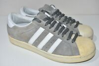 Mens Vintage Adidas Superstar Suede Grey White 2009 Trainers UK 8 US 8.5 EU 42