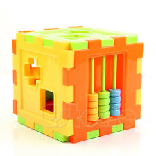 Kids Baby Colorful Block Magic Cube Toys Educational Shape Sorting Great Gifts