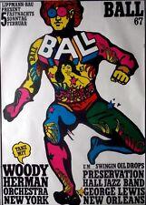 JAZZ BALL - 1967 - Konzertplakat - Kieser - Woody Herman - George Lewis - A0