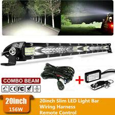 20''INCH 156W LED Work Light Bar Flood Spot Combo Offroad Pickup Bumper SUV ATV