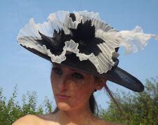 Großer  Damenut mit Blumen in 2 Farben Hut Hüte Damenhut