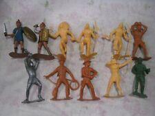 Vintage MARX Lot of 11 6 Inch Figures Vikings Western More