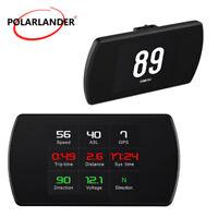 4.3'' GPS Satellites Speed  Digital Meter  Head Up Display  Car HUD Speedometer