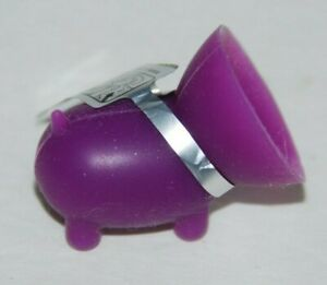 The Original Piggy Cell Phone Suction Cup Stand Mini Pig Purple Killerc NEW