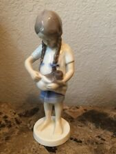 B&G Bing & Grondahl Figurine Little Mother, Girl with Kitten 1779 Excellent Cond