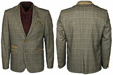 BNWT MENS CASUAL FORMAL BLAZER MARC DARCY DESIGNER IN BROWN JACKET SIZES 38-52