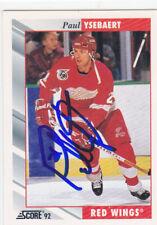 Paul Ysebaert Signed Autographed Hockey Card Detroit Red Wings