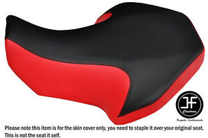 BLACK & RED AUTOMOTIVE VINYL CUSTOM FITS SUZUKI LT 80 1987-2005 SEAT COVER ONLY